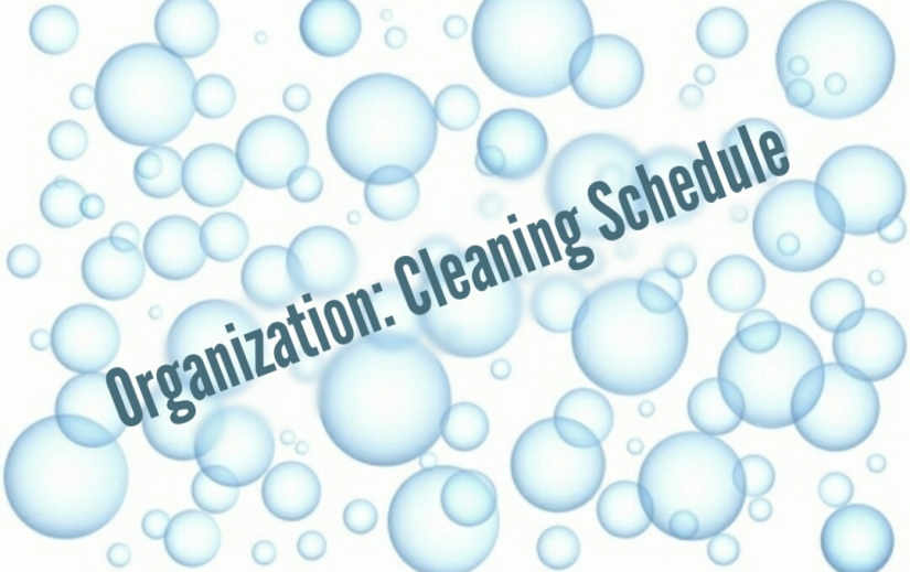 Organization: Cleaning Schedual